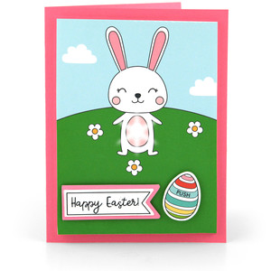 light up card bunny