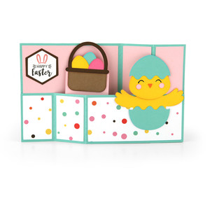 wiper card easter chick