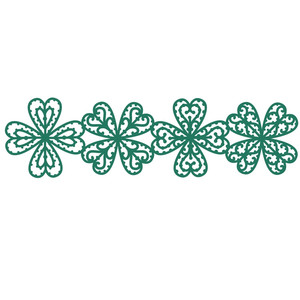 lucky four leaf clover repeating border