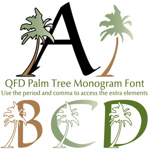 qfd palm tree monogram font