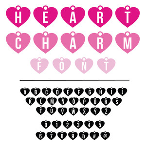 heart charm jewelry font