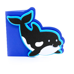 baby orca whale card