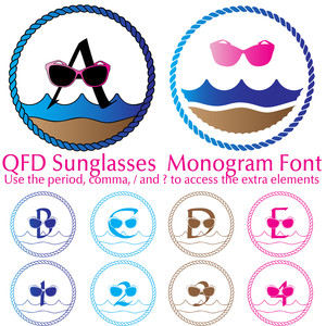 qfd sunglasses monogram summer beach font