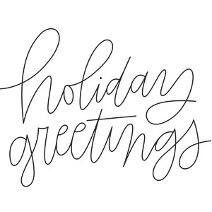 sketch handwritten holiday greetings phrase