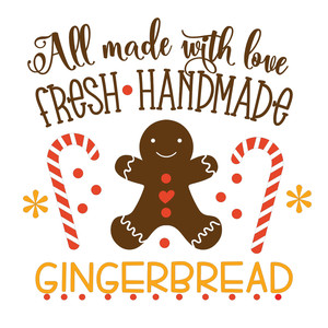 fresh handmade gingerbread