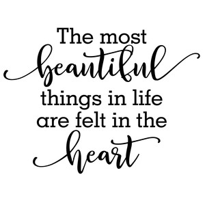 most beautiful things felt heart