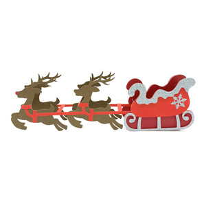 christmas sleigh and reindeer box