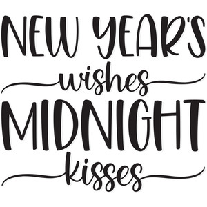 new year's wishes and midnight kisses