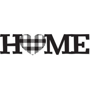 home plaid heart
