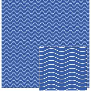 blue and white wavy pattern