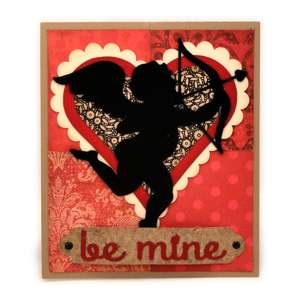 cupid be mine twist pop up card