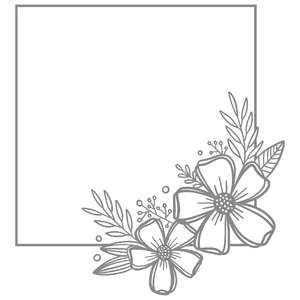square floral wreath