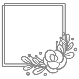 square simple floral border