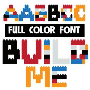 build me color font