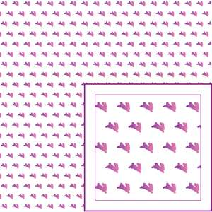 pink purple bunny pattern