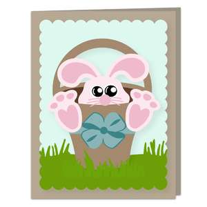 a2 bunny basket card