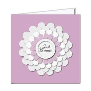 3d layered flower card - just because
