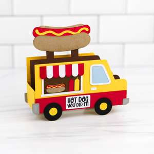 5x7 box card hot dog truck