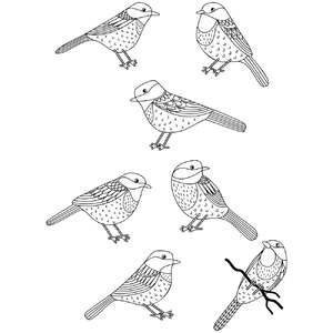 chickadee bird coloring stickers