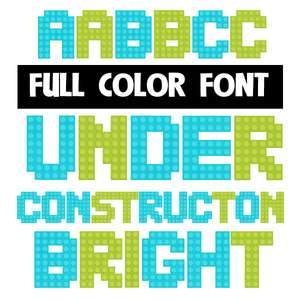 under construction bright color font