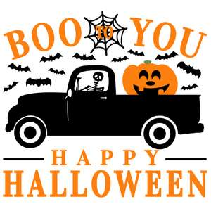 boo to you skeleton truck