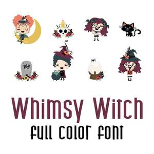 whimsy witch full color font
