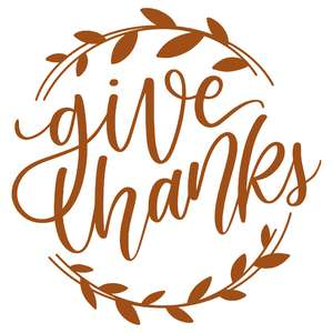give thanks swirly leaf wreath