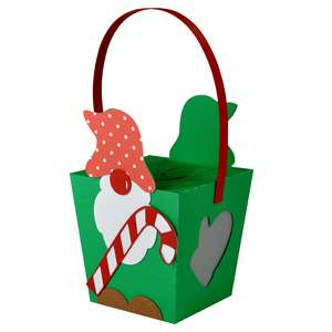 hanging christmas gnome box ornament lantern