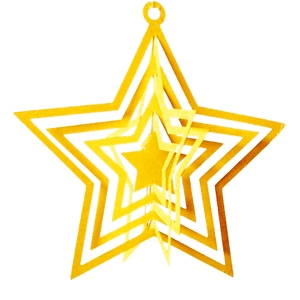 3d star spinner ornament