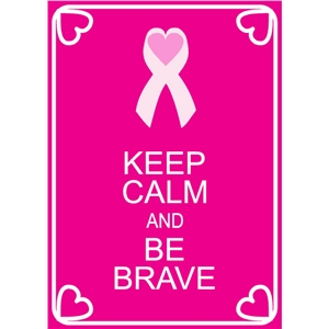 keep calm be brave phrase