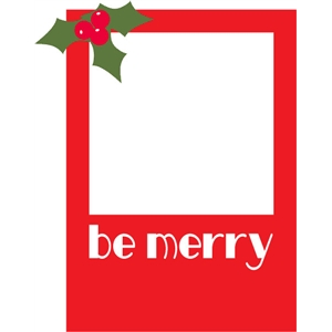 be merry photo card