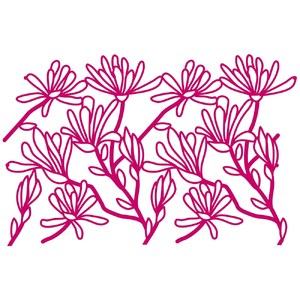 star magnolia bough repeating border