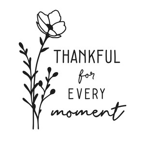 thankful for every moment