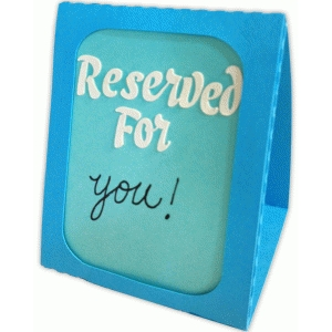 table tent reserved for