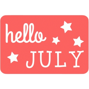 hello july 4 x6 journaling card