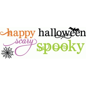 halloween words set