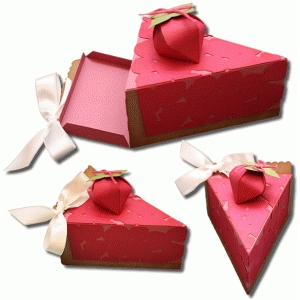 3d strawberry pie box