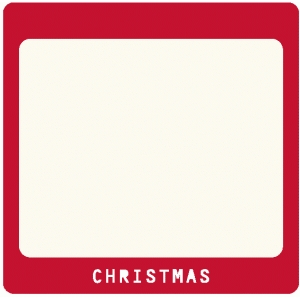 christmas slide frame