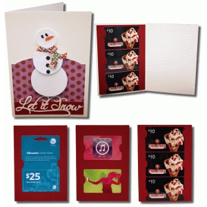 let it snow a7 gift card with gift card inserts