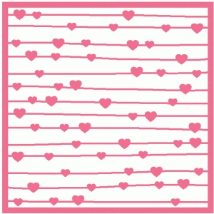heart stripe background / stencil