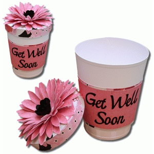 3d coffee cup with flower