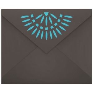native american turquoise envelope