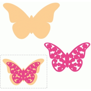 floral layered butterfly embellishment