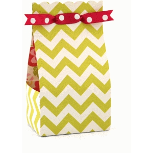 2 on 12x12 scalloped ribbon tie treat box