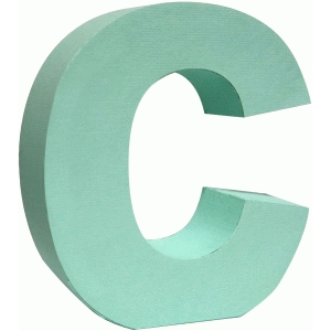 3d lowercase letter block c