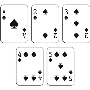 playing cards - spades a-10