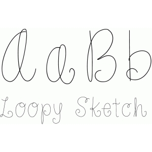 loopy sketch font