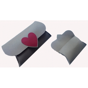 heart fold over pillow box