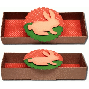 3d box with bunny wrap