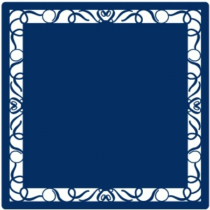 fancy border square mat / background